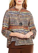 IC Collection Mandarin Collar Tweed Jacket
