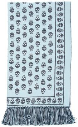 Alexander McQueen Skull Print Fringed Scarf
