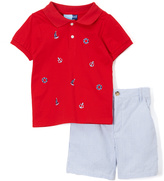 Good Lad Red Nautical Polo & Shorts - Infant & Toddler