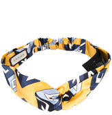 Gucci wallpaper print knot front headband