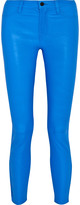J Brand Neon leather skinny pants