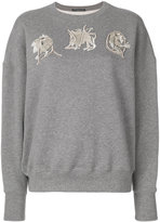 Alexander McQueen AMQ embroidered sweatshirt