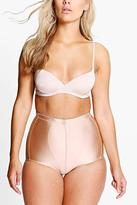 Boohoo Plus Anna High Waist Seam Detail Contrast Brief