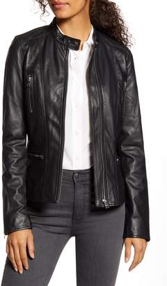 LAMARQUE Meryl Classic Leather Biker Jacket