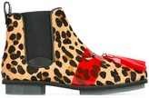 House of Holland animal print Chelsea boots