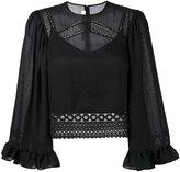McQ by Alexander McQueen crochet detail blouse - women - Cotton/Polyester/Spandex/Elastane - 40