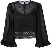 McQ crochet detail blouse