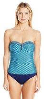 Jantzen Women's Slim Wow Factor Bandeau One Piece Swimsuit