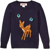 Siaomimi Bambi Sweater (Toddler/Kid) - Navy - 2