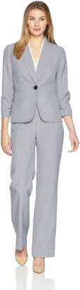 Le Suit LeSuit Women's Crosshatch 1 BTN Shawl Collar Pant