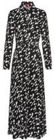 HUGO BOSS - Maxi Shirt Dress In A Star Houndstooth Print - Patterned