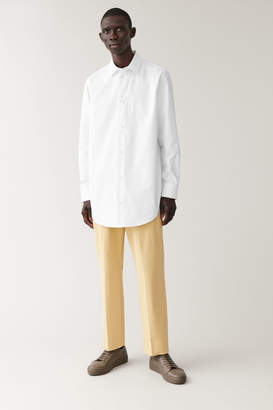 Cos BRUSHED COTTON TWILL TROUSERS