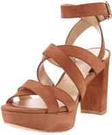 Chorusline High Platform Sandal, Saddle