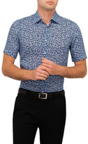 Canali Leaf Print Shirt