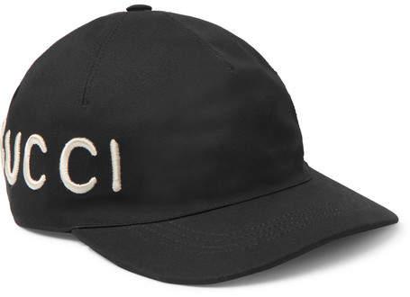 Gucci Embroidered Cotton-Twill Baseball Cap