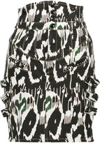 Isabel Marant Nossy printed stretch-denim mini skirt