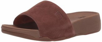 FitFlop Men's Kano Nubuck Slide Sandal Chocolate Brown 9 M US