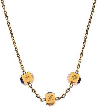 Louis Vuitton Gamble Multicolor Crystal Gold Tone Necklace