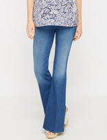 A Pea in the Pod MOTHER Secret Fit Belly Super Flare Maternity Jeans