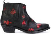 Golden Goose Deluxe Brand floral detail boots
