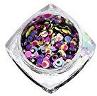 Mandystore Mixed Round Thin Nail Art Glitter Paillette Tip Gel Polish Decoration (N)
