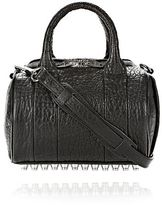 Alexander Wang Mini Rockie In Pebbled Black With Rhodium