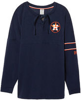 PINK Houston Astros Bling Lace-up Varsity Crew