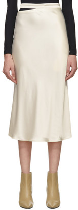 GAUGE81 Off-White Satin Skirt