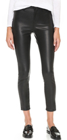Blank The Principle Mid Rise Vegan Leather Skinny Pants
