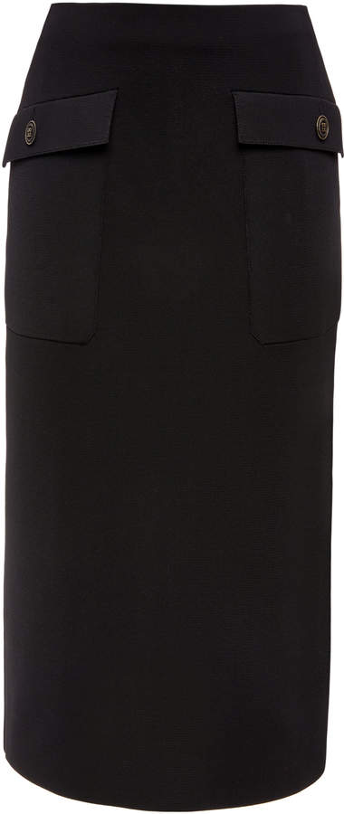 Givenchy High-Rise Crepe Skirt