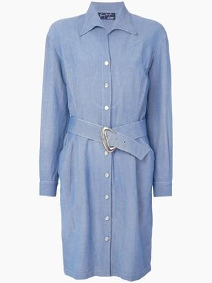 Thierry Mugler Pre Owned Western shirt dress