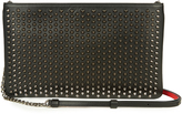 Christian Louboutin Loubiposh spike-embellished leather pouch