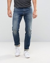 Sisley Slim Fit Jeans in Mid Wash