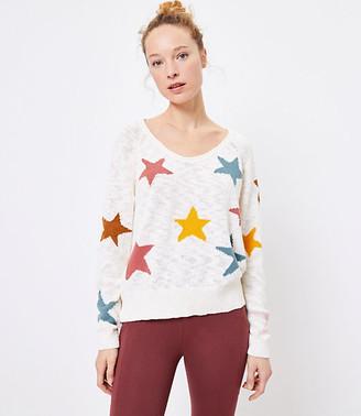 LOFT Petite Lou & Grey Star Sweater