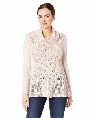 Skyes The Limit Women's Long Sleeve Sequin Sweater with Cowl Neck