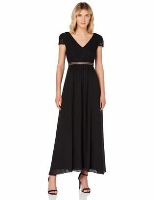 TRUTH & FABLE Women's Maxi Chiffon A-Line Dress