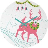 DENY Designs 51888-roucls Betsy Olmsted Holiday Deer Clock