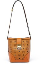 MCM 'Mini Patricia' Visetos Canvas Bucket Bag - Brown