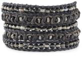 Chan Luu Black and White Wrap Bracelet with Semi Precious Stones