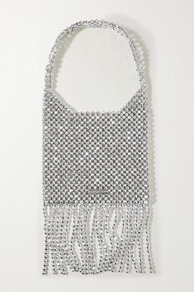 Loeffler Randall Cher Fringed Metallic Beaded Shoulder Bag - Silver
