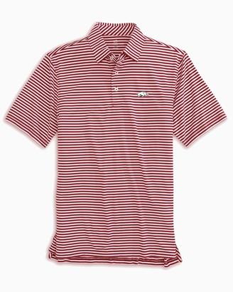 Southern Tide Arkansas Razorbacks Striped Polo Shirt