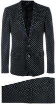 Dolce & Gabbana polka dot print suit