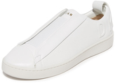 DKNY Brayden Luxe Debossed Slip On Sneakers