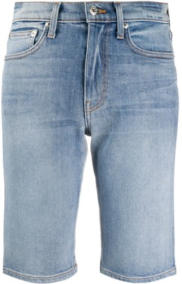 Nanushka Light Wash Denim Shorts