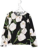 Dolce & Gabbana floral print long sleeve T-shirt