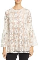 MICHAEL Michael Kors Bell-Sleeve Lace Tunic