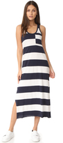 ATM Anthony Thomas Melillo Striped Mercerized Jersey Dress
