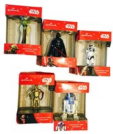 Hallmark Collection of 5 2015 Disney Star Wars Christmas Tree Ornaments