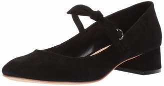 Loeffler Randall Women's Juliette-KS Mary Jane Flat Black 10.5 Medium US