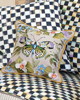 Mackenzie Childs MacKenzie-Childs Small Thistle & Bee Square Pillow
